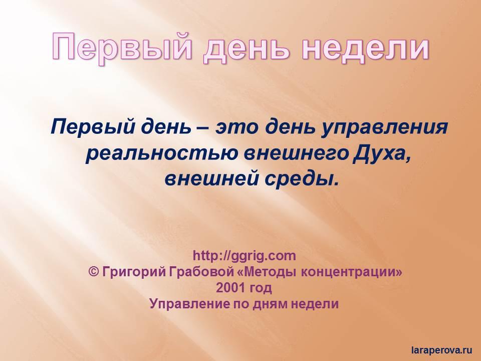 Методы ко-ции по дням недели_1 день